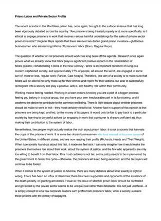 Critical Analytical Essay