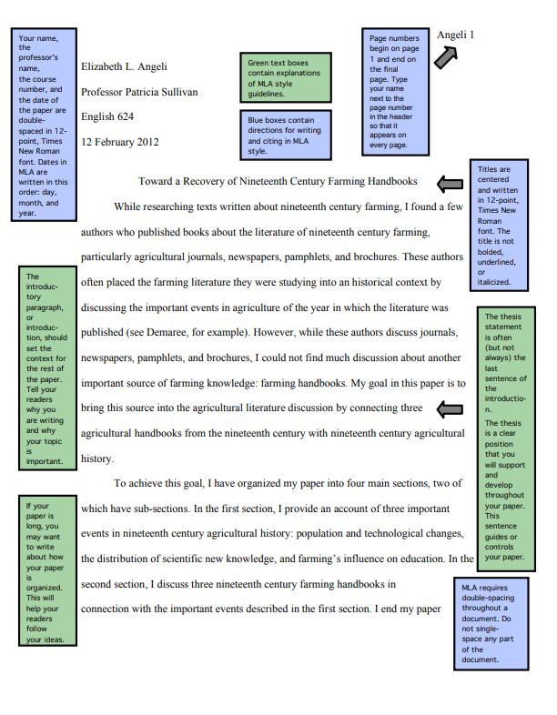 Mla Format And Mla Citation Format Guide Mla Sample Paper