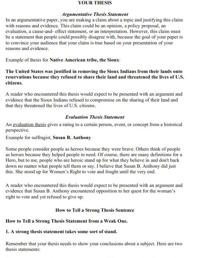 Argumentative Essay Worksheet