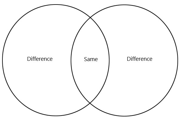 Compare and Contrast Essay Venn Diagram